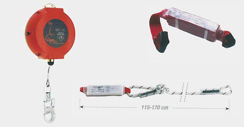 Dispositivi anticaduta richiamo automatico e con assorbitori