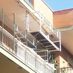 Trabattello per balconi a sbalzo Marte