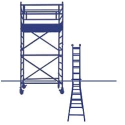 Trabattelli e Scale trabattelli a sbalzo per balconi scale